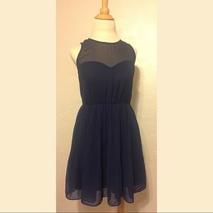 UO Pins and Needles Navy Cocktail Dress